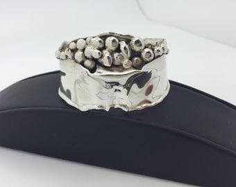 Designer MARKSZ Co. Sterling Silver cuff bracelet