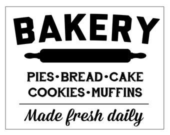 Bakery Digital Print