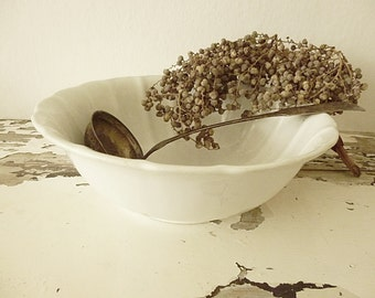 Large antique bowl from France, ironstone, patina....CHARMANT!