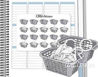 Laundry Basket Stickers | Planner Erin Condren Plum Planner Filofax Sticker