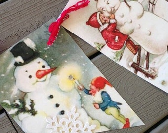 Snowman Bunting Christmas Decoration Holiday Decoration