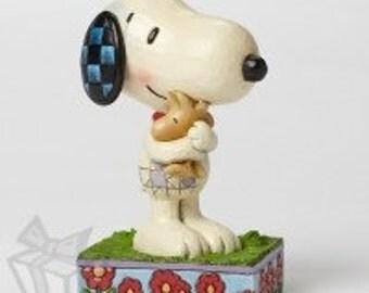 Jim Shore Snoopy Hugging Woodstock