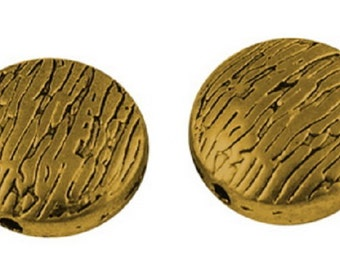 Antique Gold Tibetan Style Discs/Coins 10x5mm (set of 20)