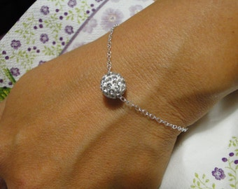 NEA bracelet 925 Silver and her shamballa Pearl White