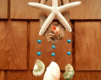 Driftwood & starfish chime