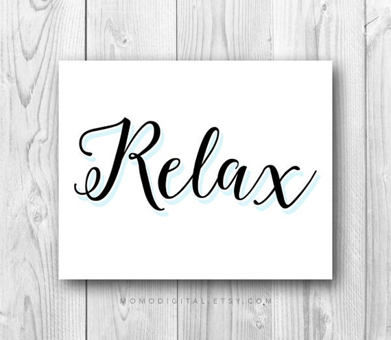 Sale relax modern calligraphy typography art by momodigital