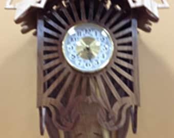 Sunburst Wall Clock - Walnut & Ash