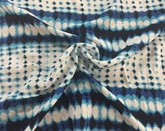 Tie Dye Droplets Rayon Challis