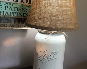 Mason Jar Table Lamp Gallon With Shade