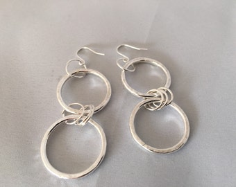 Loopy earrings sterling silver matching loopy necklace no61