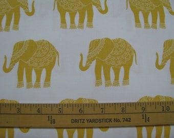 Riley Blake Madhuri Yellow Elephants BTY