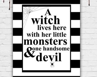 Funny Halloween Sign, Funny Halloween Decor, Funny Halloween Art, Halloween Wall Art, Halloween Art, Halloween Decor, Printable 8x10