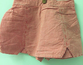 9 month, Adorable Red and White Checked Skort