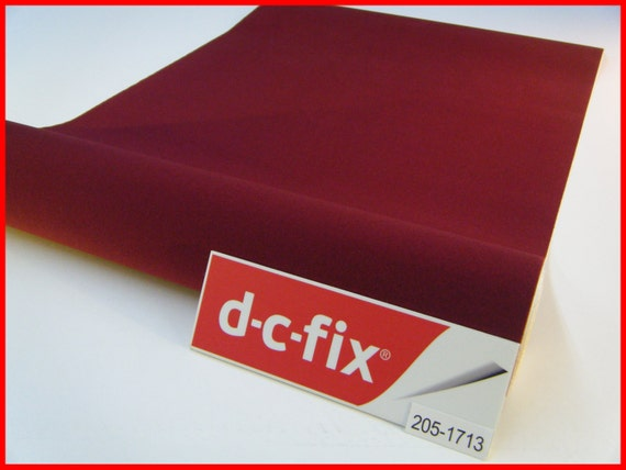 Dc Fix Velour Burgundy Felt Velvet 1m X 45cm Sticky Back