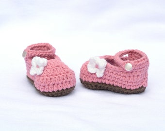 Crochet Baby Shoes, Baby Mary Janes, My Oh My Mary Janes, Gift