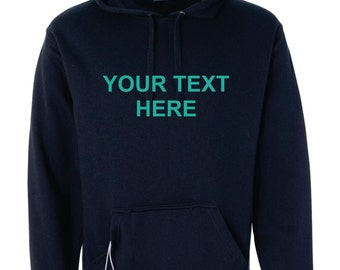 Custom Text Hoodie, Enter Your Own Text, Bottle Opener, Beverage Holder Tailgate Hoodie, Sizes S-3XL, Gift for Her, Gift for Him. 8815
