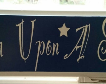 Wish upon a star, home decor, wood sign, wall decor, wish upon a star sign, drawer front