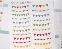 Triangle Banner Planner Stickers for Erin Condren, Happy Planner, Filofax, Scrapbooking