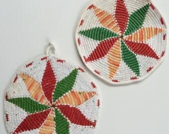 Vintage Pinwheel Hot Pads