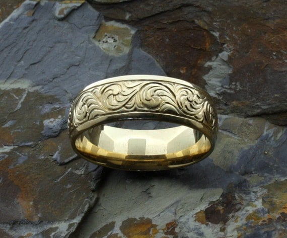 25th Anniversary Gifts For Men: Western Wedding Band 25th Anniversary Gift By McFarlinsStudio