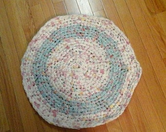 Crocheted rug