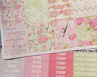 FINAL SALE 25% OFF // Secret Garden // Weekly Planner Sticker Kit