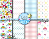 80%OFF - Kawaii, Digital Paper, COMMERCIAL USE, Rainbow Pattern, Printable Paper, Rainbow Paper, Rainbow Party, Rainbow Celebration, Pack