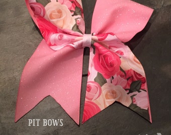 Pink Rosy Cheer Bow -1 QUANTITY-