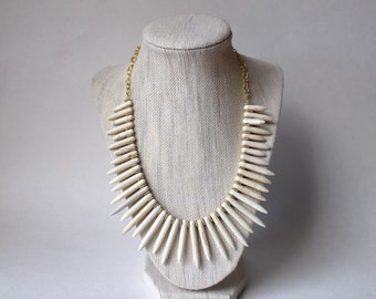 White Spike Necklace