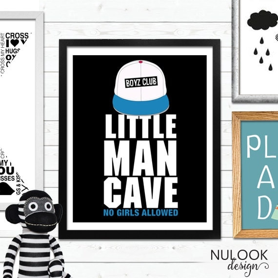 Man Cave Baby Room : Little man cave boys room decor nursery trucker hat wall
