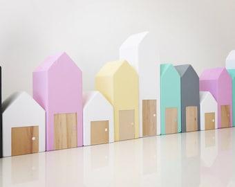 Block Houses Handmade Wooden