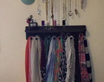 Accessory Organizer, Jewelry Holder, Scarf Organizer, Shelf, Coat Rack,  Jewelry Shelf