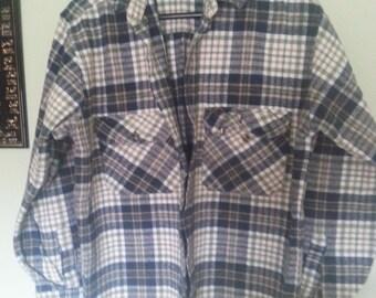 Vintage flannel shirt, vintage flannel, vintage men shirt.