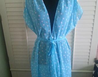 Vintage Oscar de la Renta robe, vintage robe, vintage lingerie.