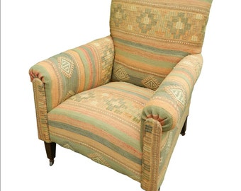 Kilim Covered Armchair