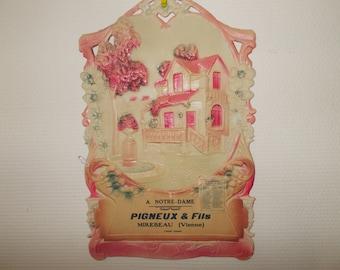 French Wall Calendar, French Vintage Calendar, 1940's Calendar , Pigneux & Fils Mirebeau Vienne, Advertising Calendar , French Decor ,