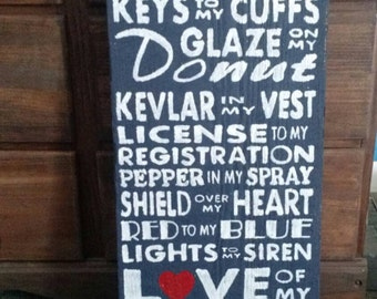 You are.. Police barnwood sign