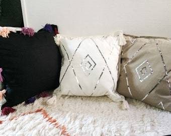 Cushion cover - beige sequins Cushion cover