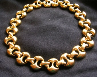 Vintage Signed Erwin Pearl Gold Necklace