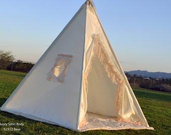 Moon Kids Teepee, Kids Play Tent, Childrens Play House, Tipi,Kids Room Decor