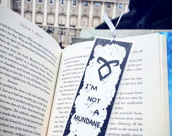 Shadowhunters / Mundane bookmarks - Handmade