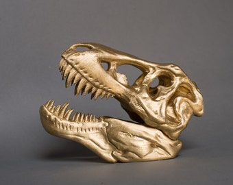 Golden T-rex , 3D Printed, Jurassic Park, Father's Day Gift, Dad Gift, Dinosaur, T-rex, Tyrannosaurus Rex, Rexy,  Husband Gift, Men Gift