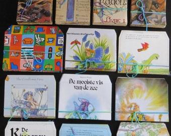 Set of 10 childrens book envelopes