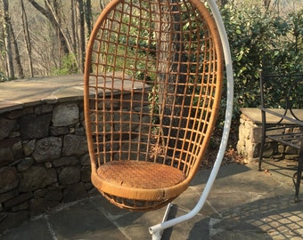 Vintage Hanging Chair and Stand