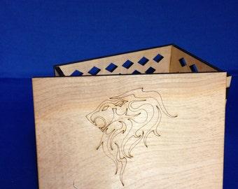 Power Keepsake Box - Laser Cut Wooden Box - Manufactured in Pittsburgh, PA