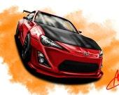 Automotive Art: Tuner Series (FR-S)