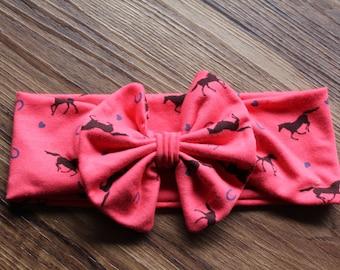 Cowgirl Bow Headwrap/ Turban Headwrap/ Top Knot