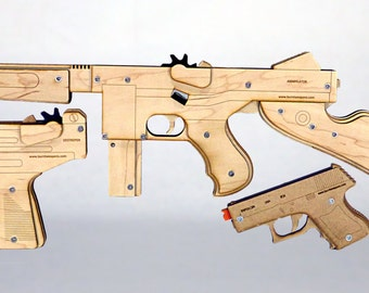 Burnt Weapons Triple Threat Rubber Band Gun Pack
