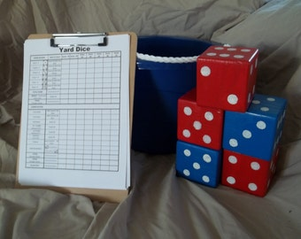 Yard Dice Yardzee (Yahtzee) custom colors