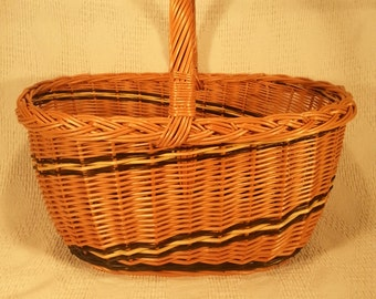 Wicker shopping basket 028